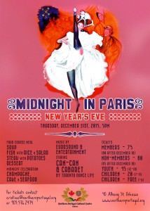 Midnight in Paris New Year's Eve Party poster